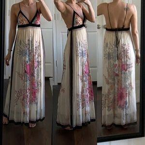 Foley + Corinna silk open back printed maxi dress